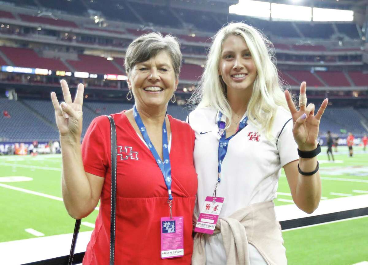 PHOTOS: A look at UH fans before Friday night's game against Washington State on Friday night Football fans before the start of the AdvoCare Texas Kickoff game at NRG Stadium, Friday, Sept. 13, 2019, in Houston.