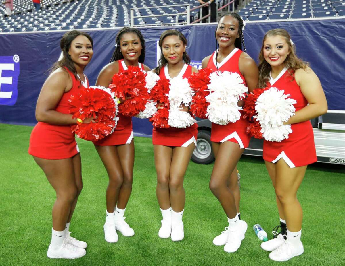 Football fans before the start of the AdvoCare Texas Kickoff game at NRG Stadium, Friday, Sept. 13, 2019, in Houston.