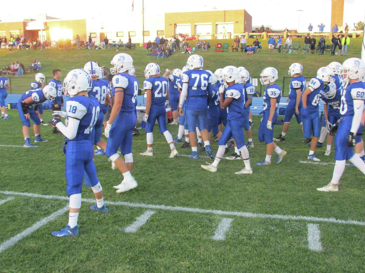 Lewis Mills came fully prepared for their CCC football opener against Bulkeley/HMTCA/Weaver Friday night at Lewis Mills High School.