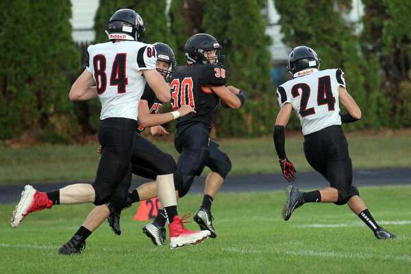 The Ubly Bearcats downed the Sandusky Redskins 30-14 on Friday night to improve to 3-0 on the season.