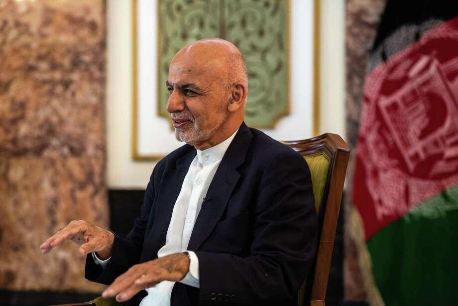 Ashraf Ghani, Afganistan's president, speaks during an interview in Kabul, Afghanistan, on Nov. 1, 2018. Photo: Bloomberg Photo By Jim Huylebroek. / © 2018 Bloomberg Finance LP