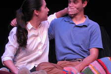 """Montana Lampert Hoover and Eric Fleising in the world premiere of """"Better"""" at Bridge Street Theatre in Catskill. (BST publicity photo by by John Sowle.)"""