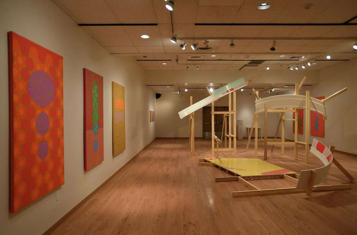 """The Housatonic Museum of Art's new exhibition, """"Close to the Line: Mari Rantanen and Kirsten Reynolds"""", opens in the museum's Bert Chernow Gallery on September 5. The gallery has been closed since August of last year after suffering water damage when the sprinkler system activated in response to an overheated computer."""