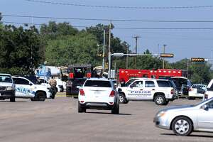 Plainview emergency units swarm the scene after a call stated that three shots had been fired on Friday morning on the 1600 block of West 11th Street.