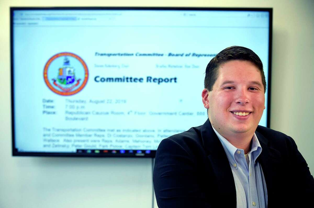 Rep. Steven Kolenberg, R-16, is photograph on Sept. 11, 2019 at the Stamford Advocate offices. Kolenberg, one of the youngest people ever elected to the Board of Representatives, is stepping down in his second term to move to Great Britain where he hopes to earn a master's degree in identifying and preventing government corruption.
