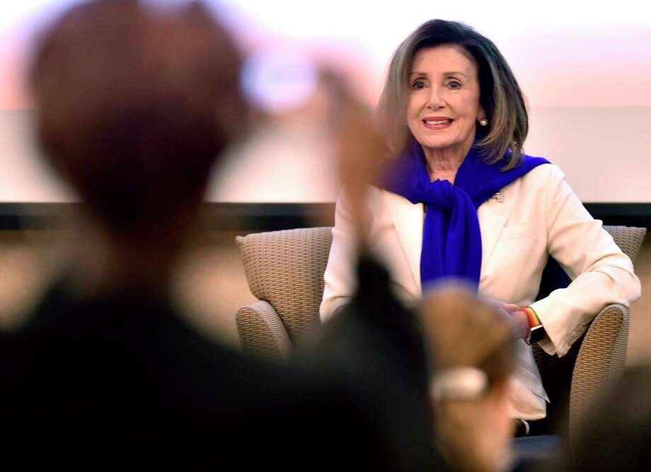 New Haven, Connecticut - Saturday, September 14, 2019:  Congresswoman Rosa DeLauro  hosts Speaker of the House of Representatives Nancy Pelosi for a conversation on equal pay Saturday morning at Gateway Community College in New Haven.  The visit by Pelosi is part of the Speaker in the House series, whichpromotes agendas of the House Democrats while connecting with democratic constituents.  The House of Representatives this year passed Congresswoman DeLauro's Paycheck Fairness Act (H.R. 7) but was stalled in the U.S. Senate. The intent of the Paycheck Fairness Act was to amend the Fair Labor Standards Act of 1938 to provide more effective remedies to victims of discrimination in the payment of wages on the basis of sex, and for other purposes.New Haven, Connecticut - Saturday, September 14, 2019:  Congresswoman Rosa DeLauro  hosts Speaker of the House of Representatives Nancy Pelosi for a conversation on equal pay Saturday morning at Gateway Community College in New Haven.  The visit by Pelosi to Connecticut is to raise money for the Democratic Congressional Campaign Committee and to help Rep. Rosa DeLauro promote equal pay for women, which is part of the Speaker in the House series that promotes agendas of the House Democrats while connecting with democratic constituents.  The House of Representatives this year passed Congresswoman DeLauro's Paycheck Fairness Act (H.R. 7) but was stalled in the U.S. Senate. The intent of the Paycheck Fairness Act was to amend the Fair Labor Standards Act of 1938 to provide more effective remedies to victims of discrimination in the payment of wages on the basis of sex, and for other purposes. Photo: Peter Hvizdak, Hearst Connecticut Media / New Haven Register