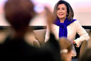 New Haven, Connecticut - Saturday, September 14, 2019:  Congresswoman Rosa DeLauro  hosts Speaker of the House of Representatives Nancy Pelosi for a conversation on equal pay Saturday morning at Gateway Community College in New Haven.  The visit by Pelosi is part of the Speaker in the House series, whichpromotes agendas of the House Democrats while connecting with democratic constituents.  The House of Representatives this year passed Congresswoman DeLauro's Paycheck Fairness Act (H.R. 7) but was stalled in the U.S. Senate. The intent of the Paycheck Fairness Act was to amend the Fair Labor Standards Act of 1938 to provide more effective remedies to victims of discrimination in the payment of wages on the basis of sex, and for other purposes.New Haven, Connecticut - Saturday, September 14, 2019:  Congresswoman Rosa DeLauro  hosts Speaker of the House of Representatives Nancy Pelosi for a conversation on equal pay Saturday morning at Gateway Community College in New Haven.  The visit by Pelosi to Connecticut is to raise money for the Democratic Congressional Campaign Committee and to help Rep. Rosa DeLauro promote equal pay for women, which is part of the Speaker in the House series that promotes agendas of the House Democrats while connecting with democratic constituents.  The House of Representatives this year passed Congresswoman DeLauro's Paycheck Fairness Act (H.R. 7) but was stalled in the U.S. Senate. The intent of the Paycheck Fairness Act was to amend the Fair Labor Standards Act of 1938 to provide more effective remedies to victims of discrimination in the payment of wages on the basis of sex, and for other purposes.