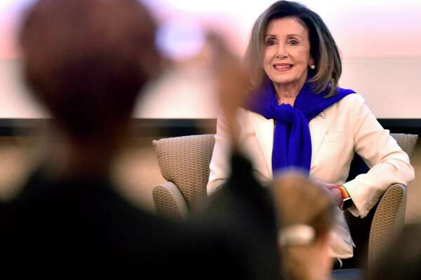 New Haven, Connecticut - Saturday, September 14, 2019: Congresswoman Rosa DeLauro hosts Speaker of the House of Representatives Nancy Pelosi for a conversation on equal pay Saturday morning at Gateway Community College in New Haven. The visit by Pelosi is part of the Speaker in the House series, whichpromotes agendas of the House Democrats while connecting with democratic constituents. The House of Representatives this year passed Congresswoman DeLauro's Paycheck Fairness Act (H.R. 7) but was stalled in the U.S. Senate. The intent of the Paycheck Fairness Act was to amend the Fair Labor Standards Act of 1938 to provide more effective remedies to victims of discrimination in the payment of wages on the basis of sex, and for other purposes.