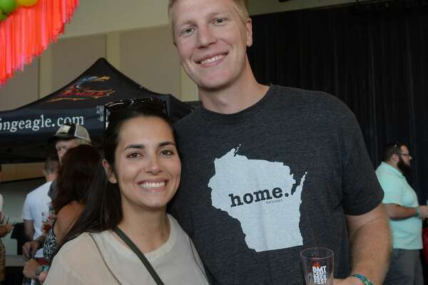 Mariana Gama and Tom Stadelman were at the 2019 Craft Beer Fest at the Event Centre in Beaumont Saturday. The event once again sold out within the first hour of ticket sales. Photo taken Friday, September 14, 2019 Kim Brent/The Enterprise