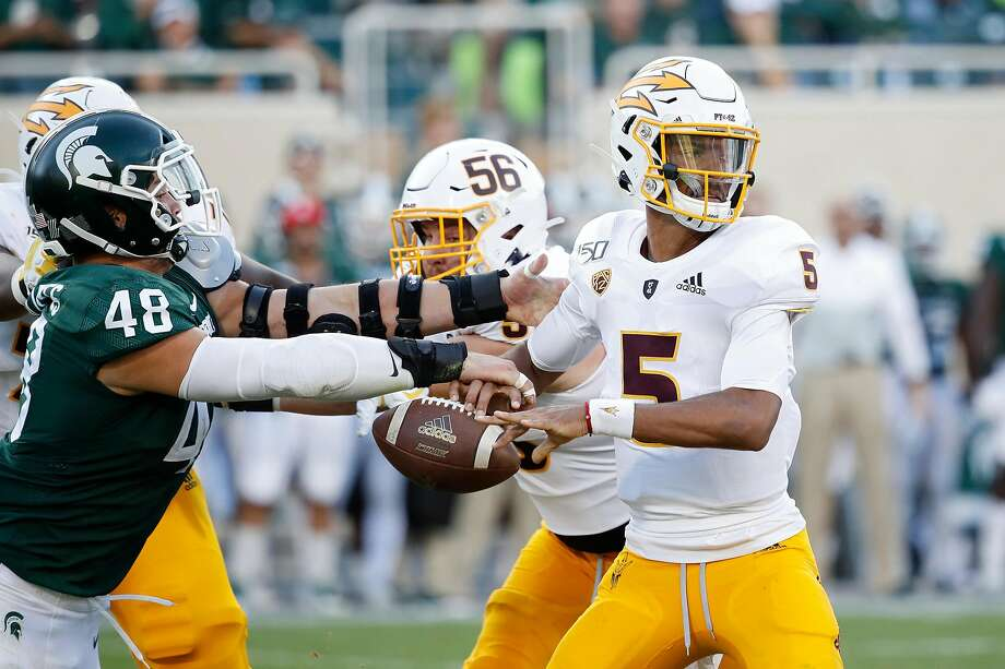 2. Arizona State Sun DevilsWe'll admit it: we slept on the Sun Devils a bit. After a thrilling win over #18 Michigan State (though they benefitted from the Pac-12's trademark poor officiating), they get a big bump this week. Photo: Joe Robbins, Getty Images
