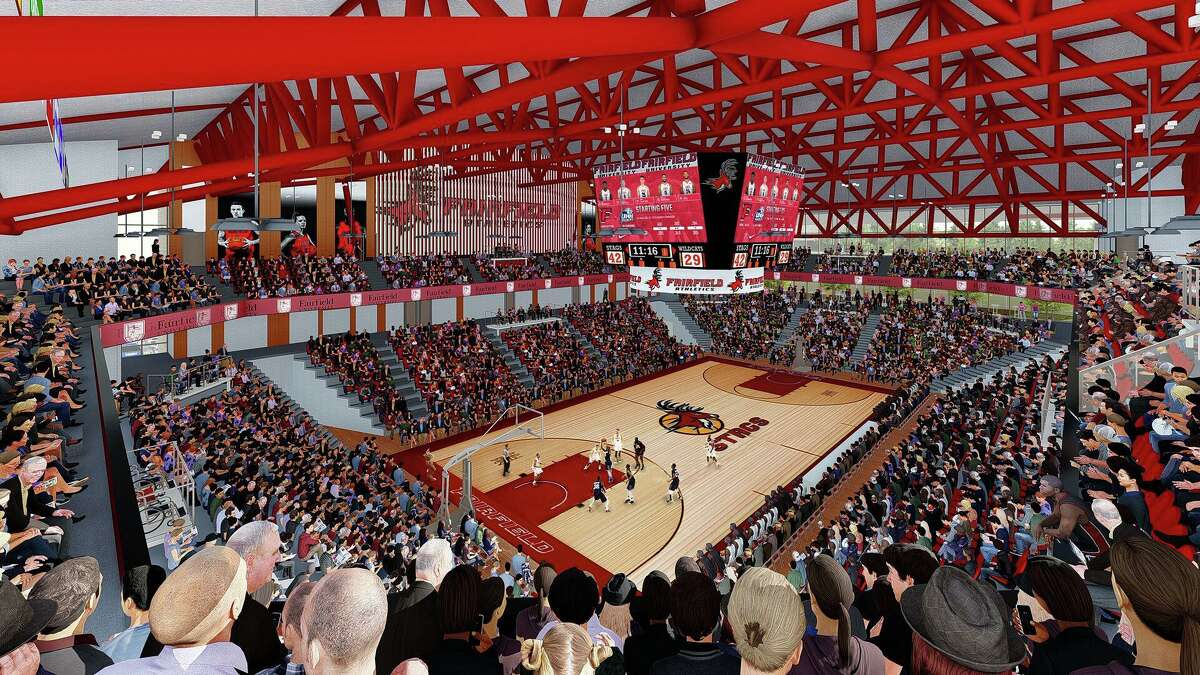 Rendering of the planned convocation center at Fairfield University.