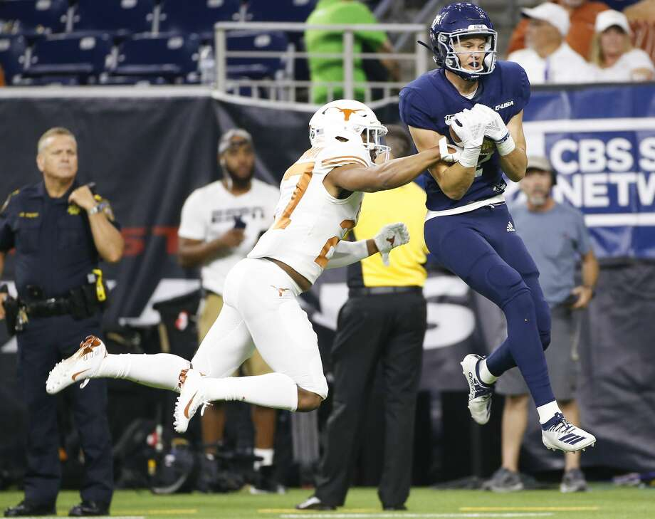 Bradley Rozner is the first Rice receiver since 2014 to top the 100-yard mark four times in a season. Photo: Elizabeth Conley/Staff Photographer