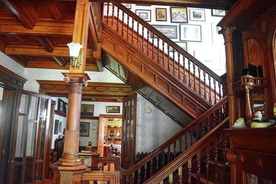Wood abounds inside the home built by Fountain J. Andrews at 1252 W. College Ave. Photo: Rochelle Eiselt | Journal-Courier