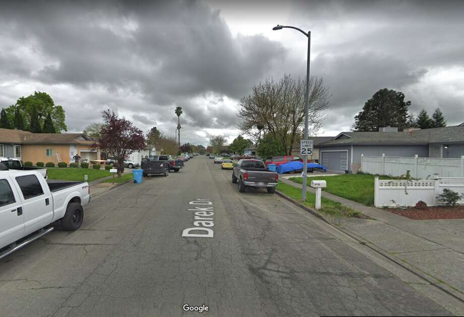The 200 block of Darek Drive in Santa Rosa, where police say they found an unconscious man and a deceased baby. The man, Patrick Oneill, will be charged with murder. Photo: Google Street View