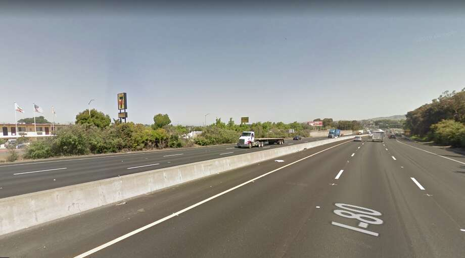 A shooting closed all lanes of I-80 in Vallejo on Sept. 16, 2019. Photo: Google Street View