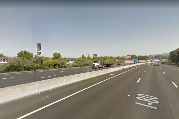 A shooting closed all lanes of I-80 in Vallejo on Sept. 16, 2019.
