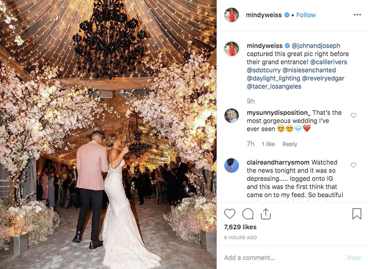 Seth Curry and Callie Rivers tied the knot in Malibu on Sept. 14, 2019.