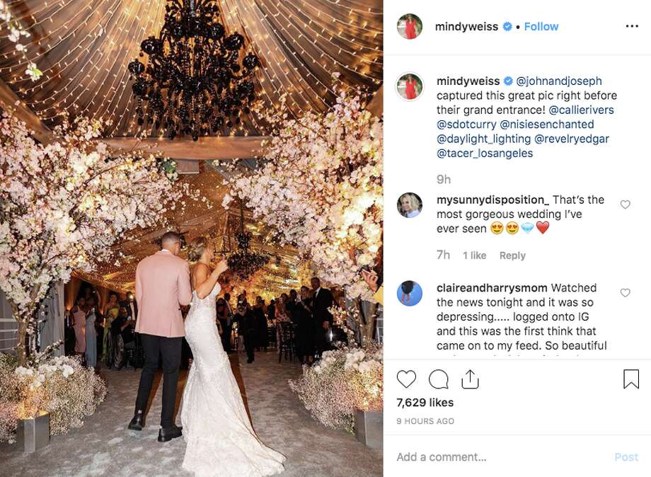 Seth Curry and Callie Rivers tied the knot in Malibu on Sept. 14, 2019. Photo: Screenshot Via Instagram