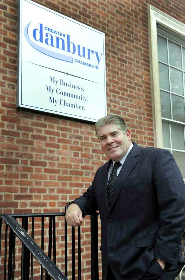 Stephen Bull, president of the Greater Danbury Chamber is photographed in front of his office Thursday, Oct. 1, 2015. Photo: Carol Kaliff / Hearst Connecticut Media / The News-Times