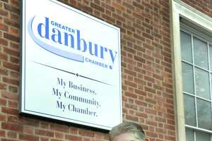Stephen Bull, president of the Greater Danbury Chamber is photographed in front of his office Thursday, Oct. 1, 2015.