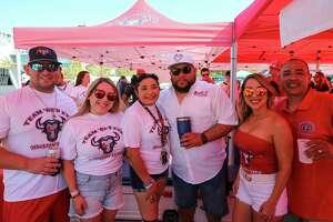 Houston Texans fans get ready for the home season opener against the Jacksonville Jaguars outsie NRG Stadium Sunday, Sept. 15, 2019, in Houston.