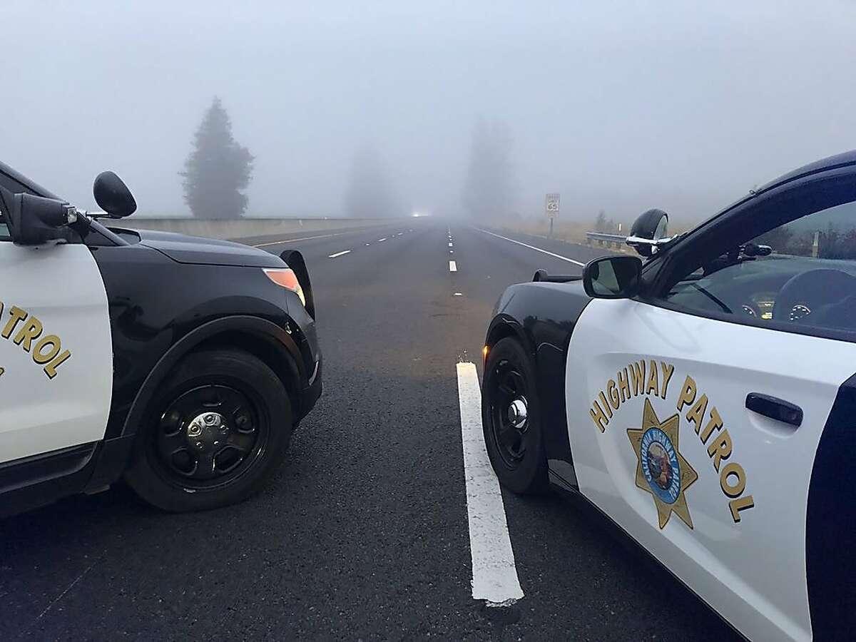 File photo of California Highway Patrol cars.