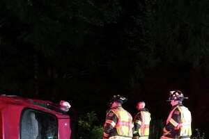 A driver escaped a rollover relatively unscathed in Monroe on Saturday night.