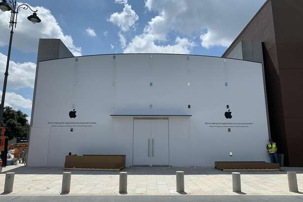 Construction continues at the Highland Village Apple Store, 4012 Westheimer Road, which is scheduled to reopen on Friday, Sept. 20, 2019, just as the iPhone 11 line goes on sale.