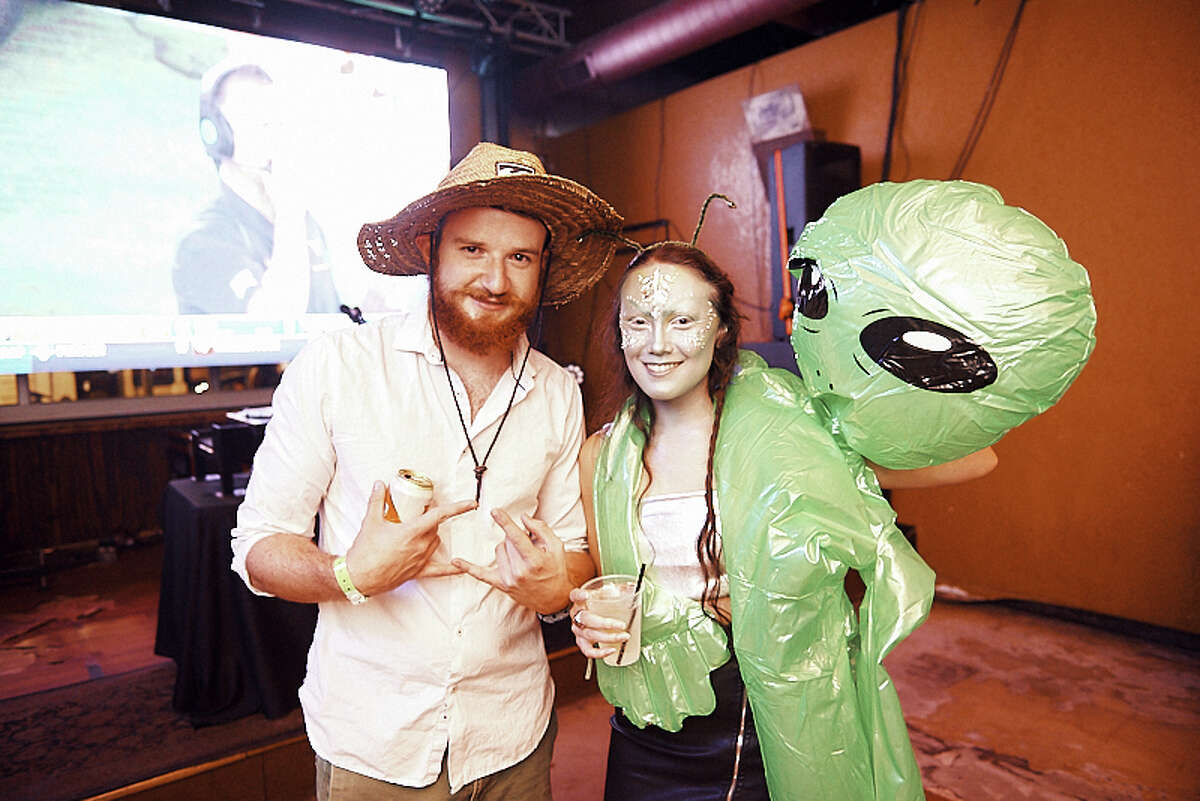 San Antonio alien fans came dressed to impress their extraterrestrial friends at the Storm Area 51 Practice Pub Run event Saturday, September 14, 2019.