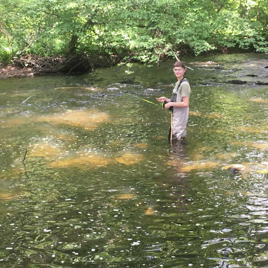 Boy Scout Ben Cohen is an avid fisherman who is seeking to improve habitat along the Norwalk River for his Eagle Scout project. Wilton, Conn., Sept. 2019 Photo: Contributed Photo / Ben Cohen / Wilton Bulletin Contributed