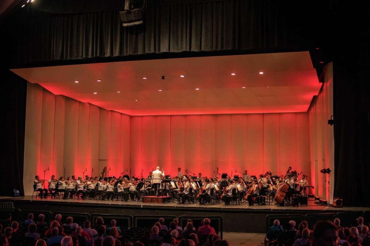 The Houston Symphony performed at the Symphony for Heroes concert at the Pavilion on Sept. 11 in The Woodlands.