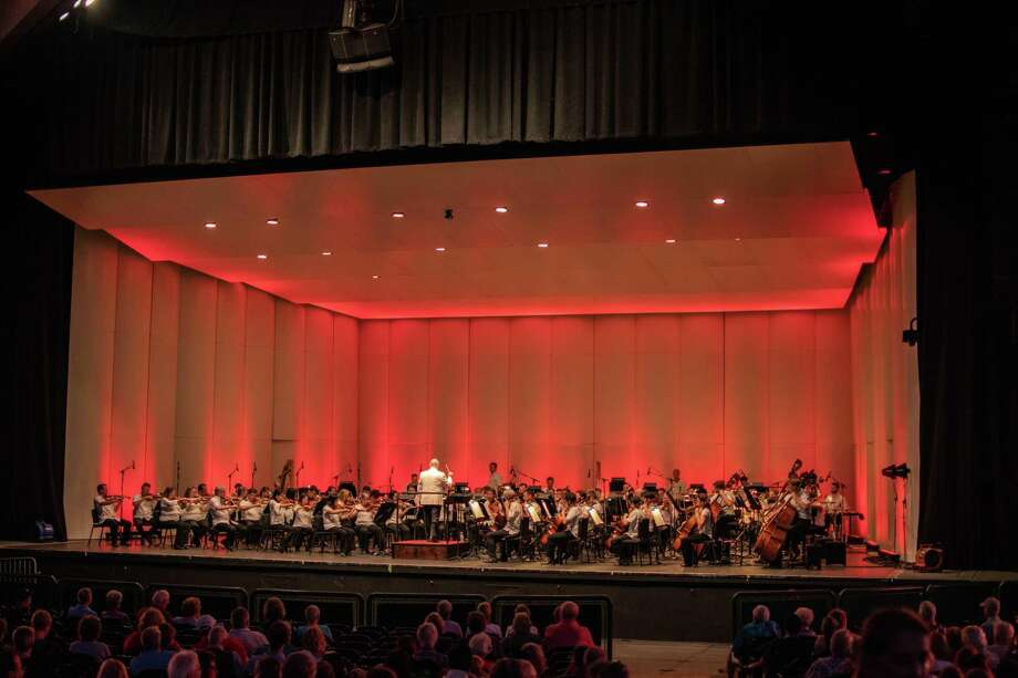 The Houston Symphony performed at the Symphony for Heroes concert at the Pavilion on Sept. 11 in The Woodlands. Photo: Courtesy Photo