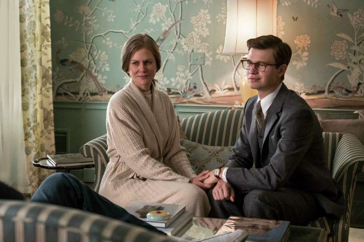This image released by Warner Bros. Pictures shows Nicole Kidman, left, and Ansel Elgort in a scene from
