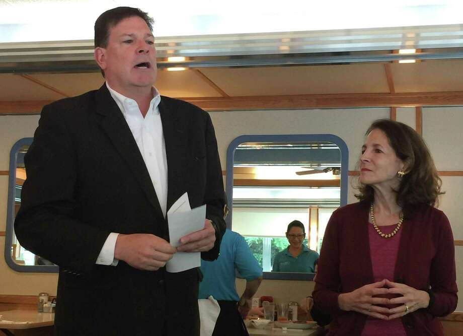 State Reps Tom O'Dea and Gail Lavielle, who appeared at Orem's Diner in June, both opposed the new sales tax on prepared food that goes into effect Oct. 1. Photo: Patricia Gay /Hearst Connecticut / / Wilton Bulletin