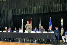 Representatives from each of the five military academies and various ROTC programs spoke to area students Saturday, September 14, 2019 during a forum at Hardin-Jefferson High School.
