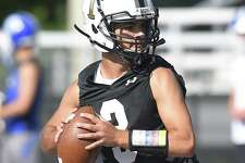 Riley Simpson threw five touchdowns in one half of play against Bridgeport Central.
