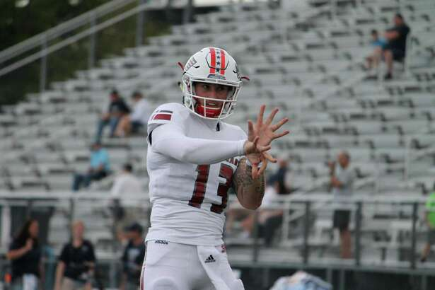 Logan Marchi threw six touchdown passes in Saturday's win.