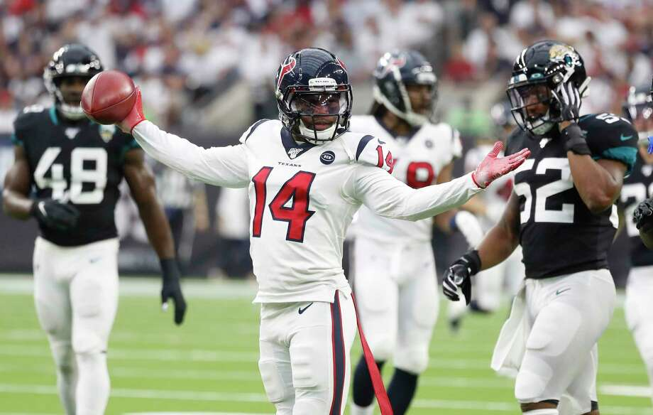 Houston Texans wide receiver DeAndre Carter (14) reacts during the first half of an NFL game at NRG Stadium, Sunday, Sept. 15, 2019, in Houston. Photo: Karen Warren, Houston Chronicle / Staff Photographer / © 2019 Houston Chronicle