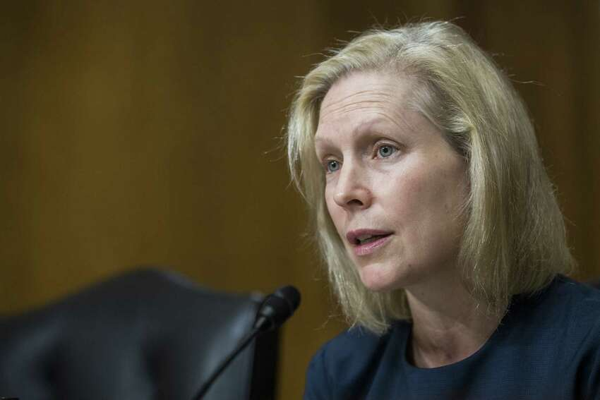 WASHINGTON, DC - SEPTEMBER 11: Sen. Kirsten Gillibrand (D-NY) speaks during a Senate Environment and Public Works Committee confirmation hearing investigating Nominee to be Chairperson and Member for the Chemical Safety and Hazard Board Katherine Lemos and Nominee to be Director for the Fish and Wildlife Service Aurelia Skipwith on September 11, 2019 in Washington, DC. (Photo by Zach Gibson/Getty Images)