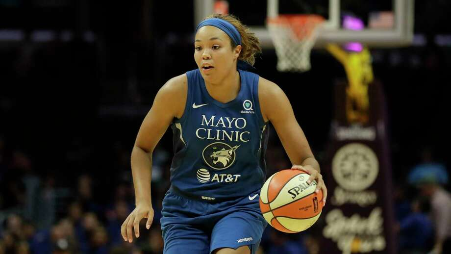 Minnesota Lynx forward Napheesa Collier plays against the Los Angeles Sparks during the first half of an WNBA basketball game in Los Angeles, Tuesday, Aug. 20, 2019. Photo: Chris Carlson / Associated Press / Copyright 2019 The Associated Press. All rights reserved