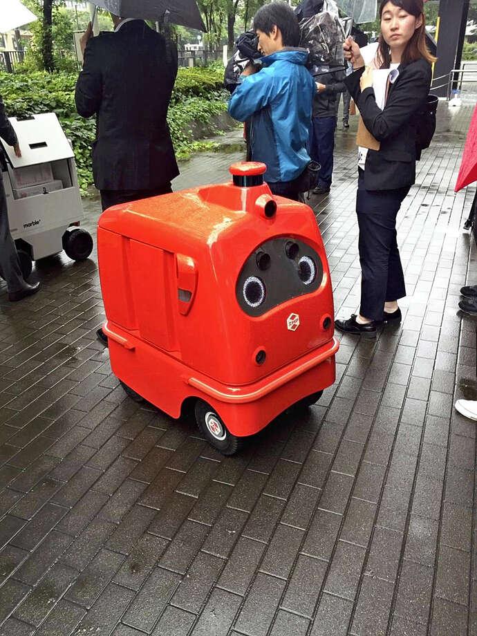 An autonomous delivery robot. Photo: Japan News-Yomiuri Photo / Japan News-Yomiuri photo