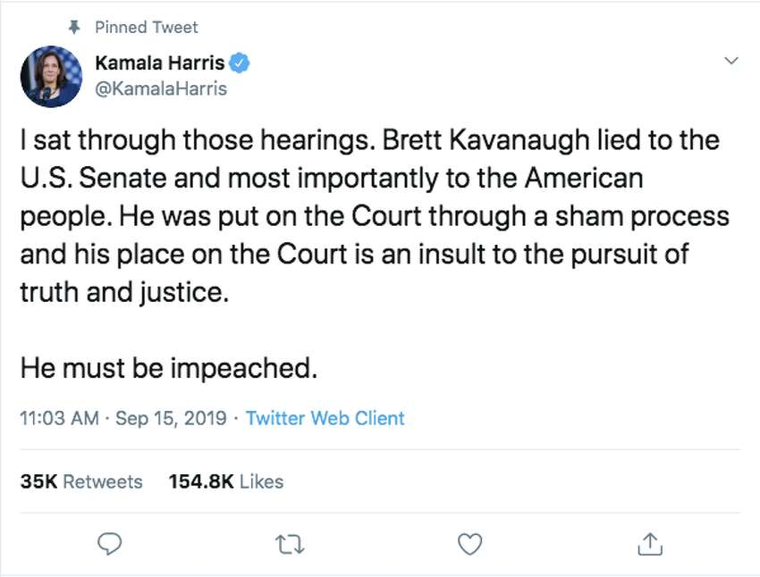 2020 Democratic presidential candidates took to Twitter to express their frustration regarding the recent allegations brought up against Supreme Court Justice Brett Kavanaugh.