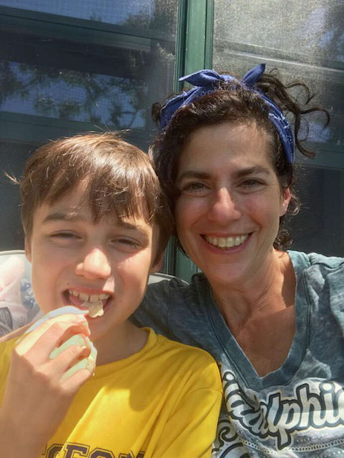 Caren Chesler takes a selfie with her son Eddie. Photo: Photo By Caren Chesler / Handout