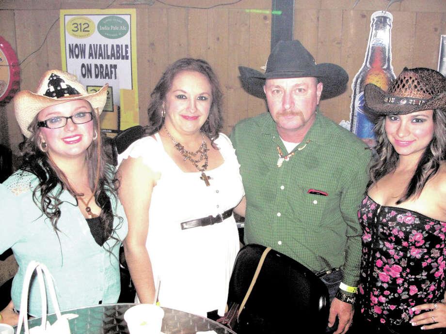 Francis Perez, Angie Salinas, Jerry Salinas and Loretta Salinas at Cowboys ¿Qué Pasa? 2012 Photo: JG MORALES, Jose Gustavo Morales