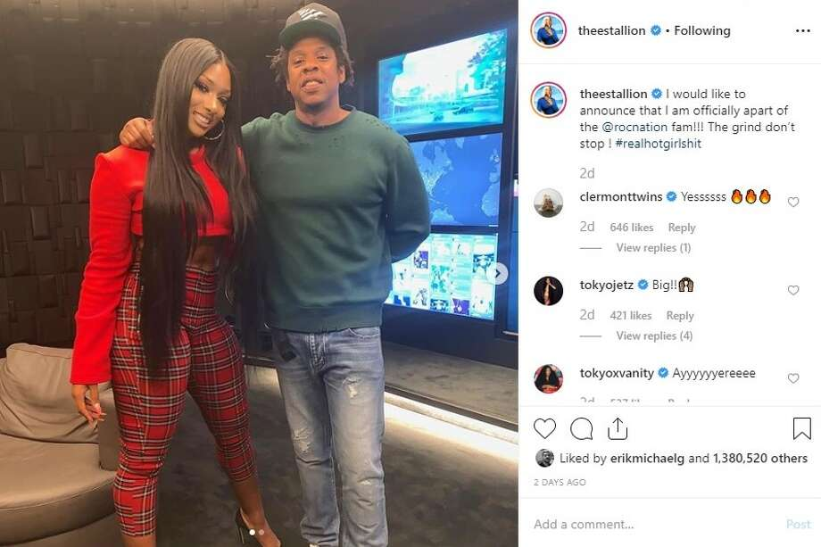 Megan Thee Stallion and Jay-Z Photo: Instagram.com/theestallion