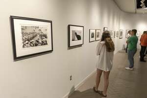 Sight and feeling: photographs by Ansel Adams and reflection: 180 years in photography opened Thursday, August 29 at the Ellen Noel Art Museum.  Jacy Lewis/Reporter-Telegram