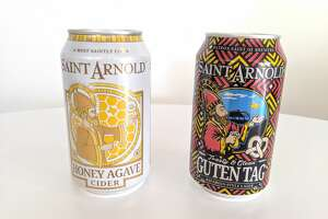 Saint Arnold announces two new additions to its lineup of year-round beers: Honey Agave Cider, and Guten Tag.