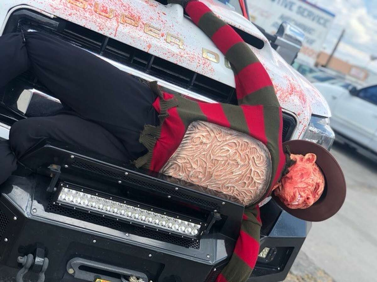 One San Antonio has gone beyond decorating his home for Halloween. Spooky décor can also be found on his truck, which has people turning heads on the local highways.