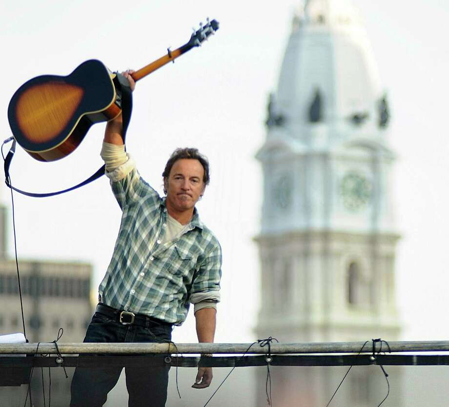 "'Springsteen on the Parkway' is one of the many photographs of 'The Boss' that is on display at the C. Parker Gallery in Greenwich. The show called ""Growin' Up — Bruce Springsteen at 70"" will run through Sunday. Photo: Contributed / /"
