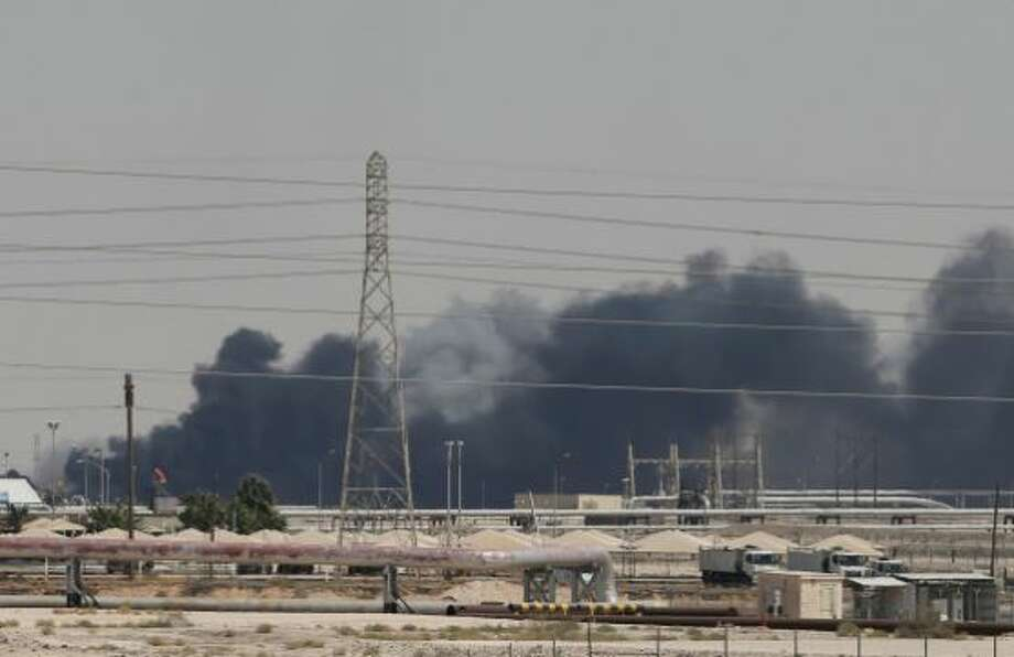 The oil strike on a processing facility and oil field has affected about half of Saudi Arabia's output. Photo: Reuters